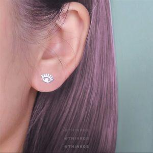 🔮Mini Evil Eye Earrings // Silver